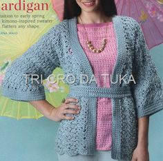 CRochet cardigan ♥LCT-MRS♥ with diagrams.