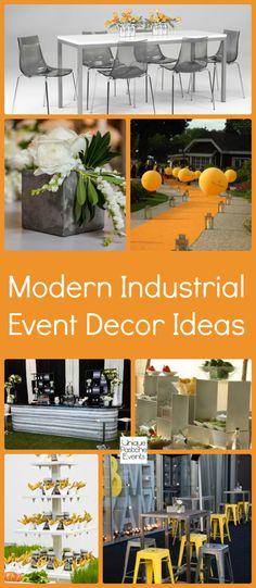 Modern Industrial Event Decor #IdeaBoard #InspirationBoard