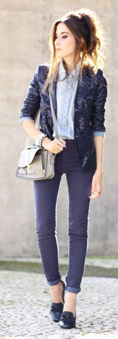 Boyish Sequin Streetstyle by Fashion Coolture