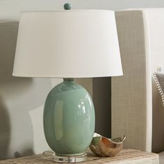 """You'll love the Vase 25"""" Table Lamp at Wayfair - Great Deals on all Lighting products with Free Shipping on most stuff, even the big stuff. Nightstand Lamp, Home And Garden, Table Lamp, Lighting Products, Vase, Free Shipping, Big, Home Decor, Table Lamps"""