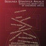 Sesiunea anuala a Muzeului National al Carpatilor Rasariteni
