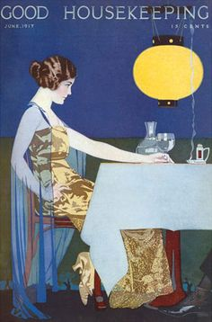 Good Housekeeping Cover Copyright 1917 Lady Restaurant - Mad Men Art: The 1891-1970 Vintage Advertisement Art Collection