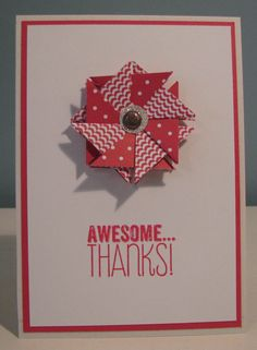 Awesome Thanks Tea Bag Style (Stampin Up)