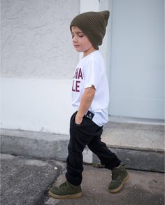 Athletic joggers feature a drop crotch for that roomy fit your little one will love. Little Kid Fashion, Baby Boy Fashion, Toddler Fashion, Kids Fashion, Fashion Clothes, Womens Fashion, Fall Fashion, Latest Fashion, Fashion Trends