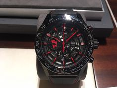 TAG Heuer Carrera Calibre Heuer 01 Automatic Chronograph Manchester United Special Edition Watch CAR2A1J.FC6400-4