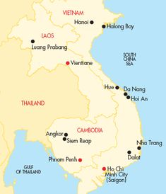 map of vietnam and cambodia - Google Search