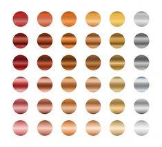 Set of metallic gradients, gold, silver ... | Premium Vector #Freepik #vector #frame #border #badge #rose Gold Gradient, Gradient Color, Neon Azul, Metal Working, Eyeshadow, Lipstick, Bronze, Colours, Metallic