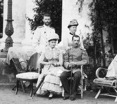 Grand Duke Sergei Alexandrovich Romanov of Russia,Grand Duchess Marie Alexandrovna Romanova of Russia,Grand Duchess Elisabeth Feodorovna of Russia and Grand Duke Pavel Alexandrovich Romanova of Russia.A♥W