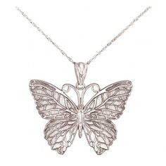 Solid Silver butterfly charm pendant ideal for branded bracelet