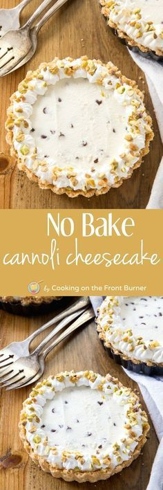 Cannoli cheesecake is a super easy no-bake dessert. Keep the heat off!