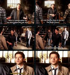 Cas can't lie. And he doesn't finish his sentence. What conclusion can we draw from this, class? :]