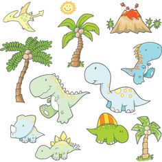 Party Goods — Absolutely Prehistoric | Stars and Dinosaurs | Prehistoric Party | Party Goods: Baby Dinosaurs