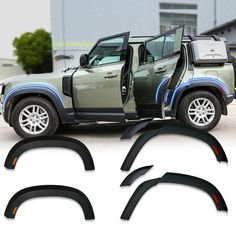Vendor: Victorious Automotive Type: car Price: 550.00 DESCRIPTION FIT FOR:FOR 2020 LAND ROVER DEFEDNDER 110 Brand: Accessories Parts Condition: New Product Type: Fender Flare/Wheel Arch Placement on Vehicle: Left, Right Material: Made of ABS Number of Item(s):1 Set(Complete set for installation) WHEEL ARCH WITH LED LIGHT WHEEL ARCH