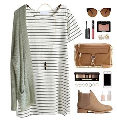 """""""fall dress"""" by classically-preppy ❤ liked on Polyvore featuring H&M, Free People, NARS Cosmetics, Rebecca Minkoff, Bobbi Brown Cosmetics, Kate Spade, Iosselliani, Essie and Isabel Marant"""