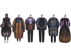 Fashion Sketchbook - fashion illustrations; line up; fashion student portfolio // Xue Yang & Oom Terdpravat