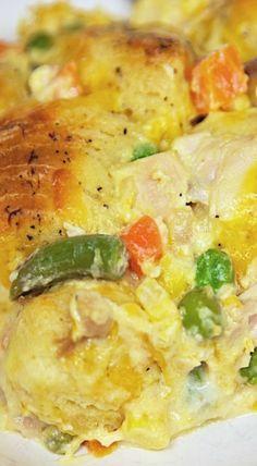 Chicken Pot Pie Bubble Up