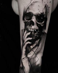 Blackwork skull...