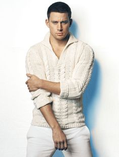 Channing Tatum photographed by Norman Jean Roy for Details magazine Feb 2012 issue. I'm not crazy about Channing's pose. however I think it's cool how the jacket matches his eyes.