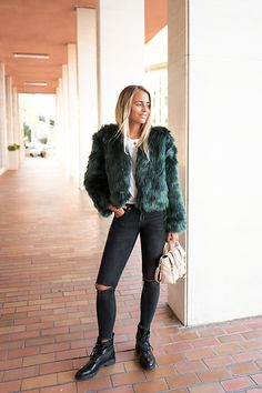 Get this look: http://lb.nu/look/8598433  More looks by NA-KD: http://lb.nu/nakdfashion  Items in this look:  Sanne Alexandra Green Fake Fur   #casual #edgy #nakdfashion #jannideler #blogger #influencer #fake #faux #fur