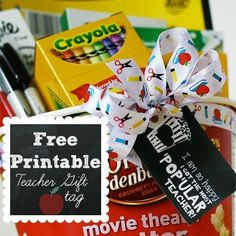 Free Back to School Printable: Teacher Gift Tag via spoonful.com Great looking tags!