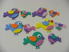 Pacote com 50 passarinhos para montar  www.petilola.com.br