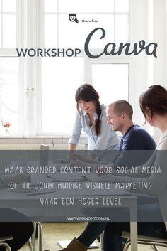 Ik werk al jaren met #adobe, maar speciaal voor #ondernemers heb ik een #workshop #Canva samengesteld. Ik leer je niet alleen hoe Canva werkt, maar ook hoe je Canva voor jou laat werken.