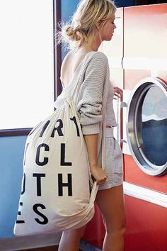 If I have to go to the laundromat, I might as well have an attractive laundry bag. 4040 Locust Word Scramble Laundry Bag - Urban Outfitters #UOonCampus #UOContest