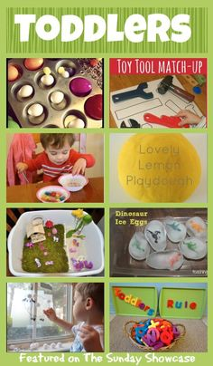 Fun Activities for TODDLERS - some fun ideas for keeping toddlers entertained and learning. Could intemperate in classroom setting Toddler Play, Toddler Learning, Baby Play, Toddler Preschool, Toddler Crafts, Fun Learning, Toddler Games, Toddler Classroom, Daycare Crafts