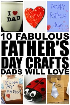 If you're looking for fathers day crafts to keep your kids from climbing the walls now that school is out, check out these adorable fathers day crafts for kids. They are great boredom busters and make great keepsakes for grandfathers! 1 mugs Baby Crafts, Toddler Crafts, Diy Crafts For Kids, Father's Day Activities, Craft Activities For Kids, Fathersday Crafts, Daddy Day, Father's Day Diy, Fathers Day Cards
