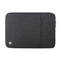 Caison 15.6 Waterproof Classic Comfort Laptop Sleeve Case Pouch 15.6 inch Notebook Bag Protective Skin Cover (Dark Grey)