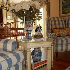 French country style uses basic fabrics like cotton, canvas or toile. By searching for antiques you're able to find not merely beautiful affordable living room decorating pieces, but it is al… English Country Decor, French Country Furniture, French Country Bedrooms, French Country Living Room, French Country Cottage, French Country Style, Country Blue, French Decor, French Country Decorating