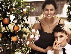 Bianca Balti in the Dolce&Gabbana Jewellery Mamma campaign. Shot by Giampaolo Sgura.