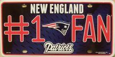 Patriots #1 Fan Metal License Plate