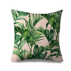 Popeven Palm Tree Throw Pillow Covers for Couch Canvas Zi... http://a.co/e3pvgGA
