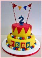 Piñon Fijo Baby First Birthday Cake, 1 Year Old Birthday Party, Carnival Birthday Parties, Circus Birthday, Circus Party, Birthday Party Themes, Circus Wedding, Circus Cakes, Celebration Quotes
