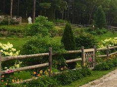 Hillside gardens at Stonehouse Farm, Maine