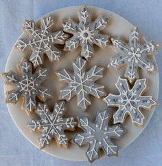 Snowflake Sugar Cookies for #BloggersforSandyHook