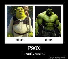 Even Shrek did P90X...LOL