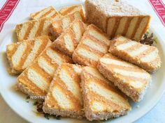 Egyszerű karamellkrémes csíkos szelet - sütés nélkül