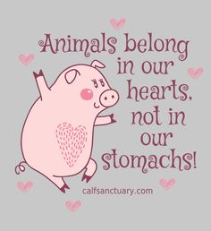 Animals Belong In Our Hearts <3<3 <3 T-shirts & Tanks - Cute! #MyVeganJournal