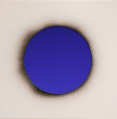 "Lita Albuquerque, UNTITLED (AURIC FIELD) Pigment on panel and resin 30 x 30""  INQUIRE"