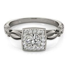 Round Halo Engagement Ring | JD Jewelers | Midland and Gladwin, Mi