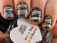 Spektor's Nails: Gingerbread Candy Nails with Sugar Spun