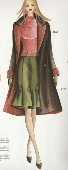Marfy coat and skirt