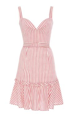 M'O Exclusive Linen Stripes Mini Dress by Luisa Beccaria