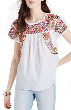 Please go on sale soon so I can buy you: Springtime Embroidered Cotton Top