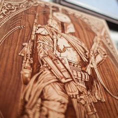 Laser Engraved Wooden Poster by SpaceWolf - StarWars