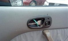 Fork car handle. If your car is this busted, you should probably slurge and get a new one.