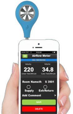Visit our blog to Watch a video to learn more about the automatic air flow balancing meter. It plugs into most smart phones  after you input the grill size it will give you an accurate velocity or CFM reading of that grill. Simply download the app and get started!