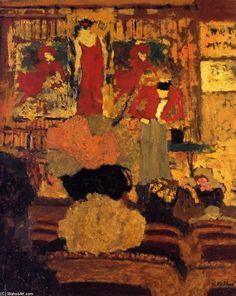 Edouard Vuillard - La Loi de prestidigitation, huile sur panneau de Edouard Vuillard (1868-1940, France) - huile sur panneau - 1895